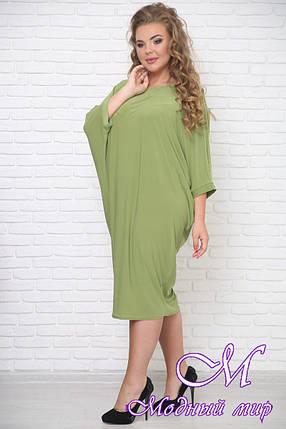 Удобное летнее платье на полную фигуру (р. 42-90) арт. Фредерика, фото 2