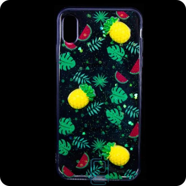 Чехол силиконовый 3D Apple iPhone XS Max Ананас