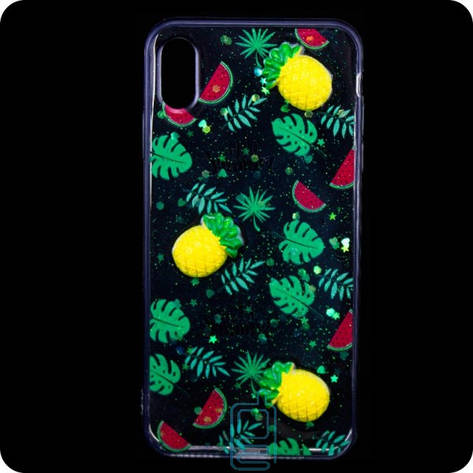 Чехол силиконовый 3D Apple iPhone XS Max Ананас, фото 2