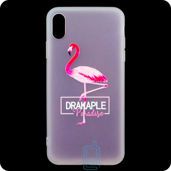 Чехол силиконовый Summer Apple iPhone XS Max Flamingo