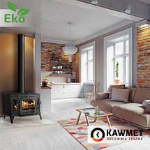 Печь камин чугунная KAWMET P7 (10.5 kW) LB EKO дверцы с левой стороны, фото 2
