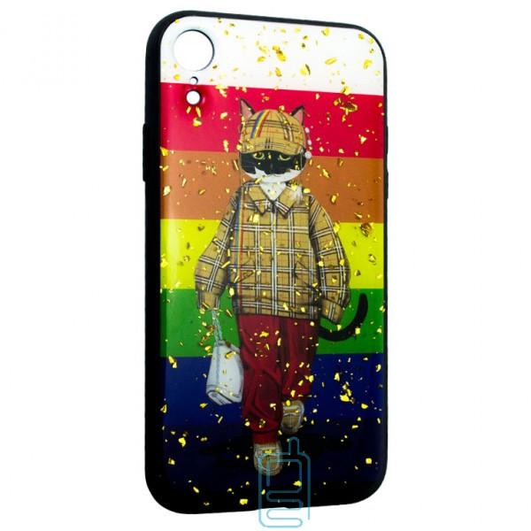 Чехол накладка Glue Case Apple iPhone XR Кот