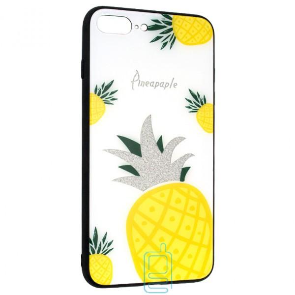 Чехол накладка Glass Case Apple iPhone 7 Plus. 8 Plus Pineapple