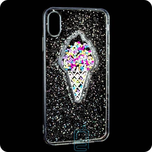 Чехол силиконовый Ice cream Apple iPhone XS Max прозрачный