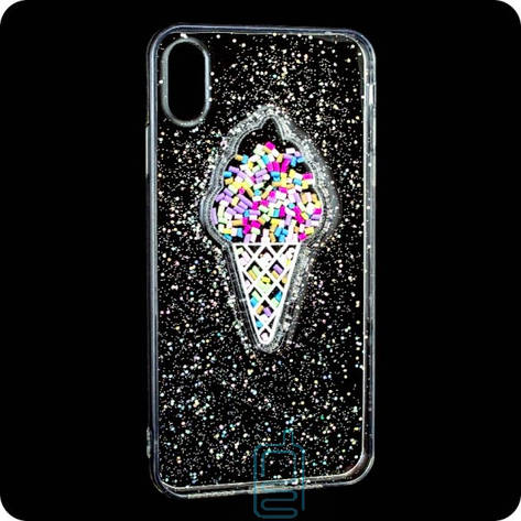 Чехол силиконовый Ice cream Apple iPhone XS Max прозрачный, фото 2