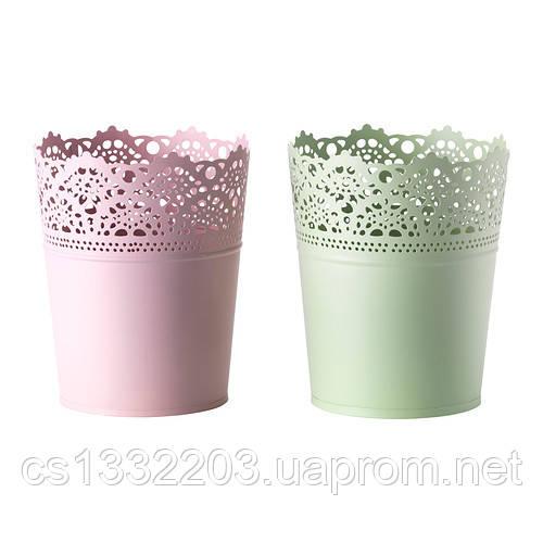 Ажурное кашпо  (бледно-розовый цвет)