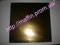 Подложка под торт квадрат серебро/золото  300*300