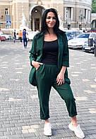 Льняной костюм женский больших размеров
