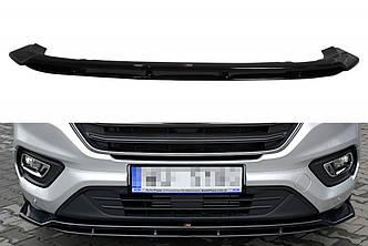 Диффузор переднего бампера губа накладка тюнинг Ford Transit Custom