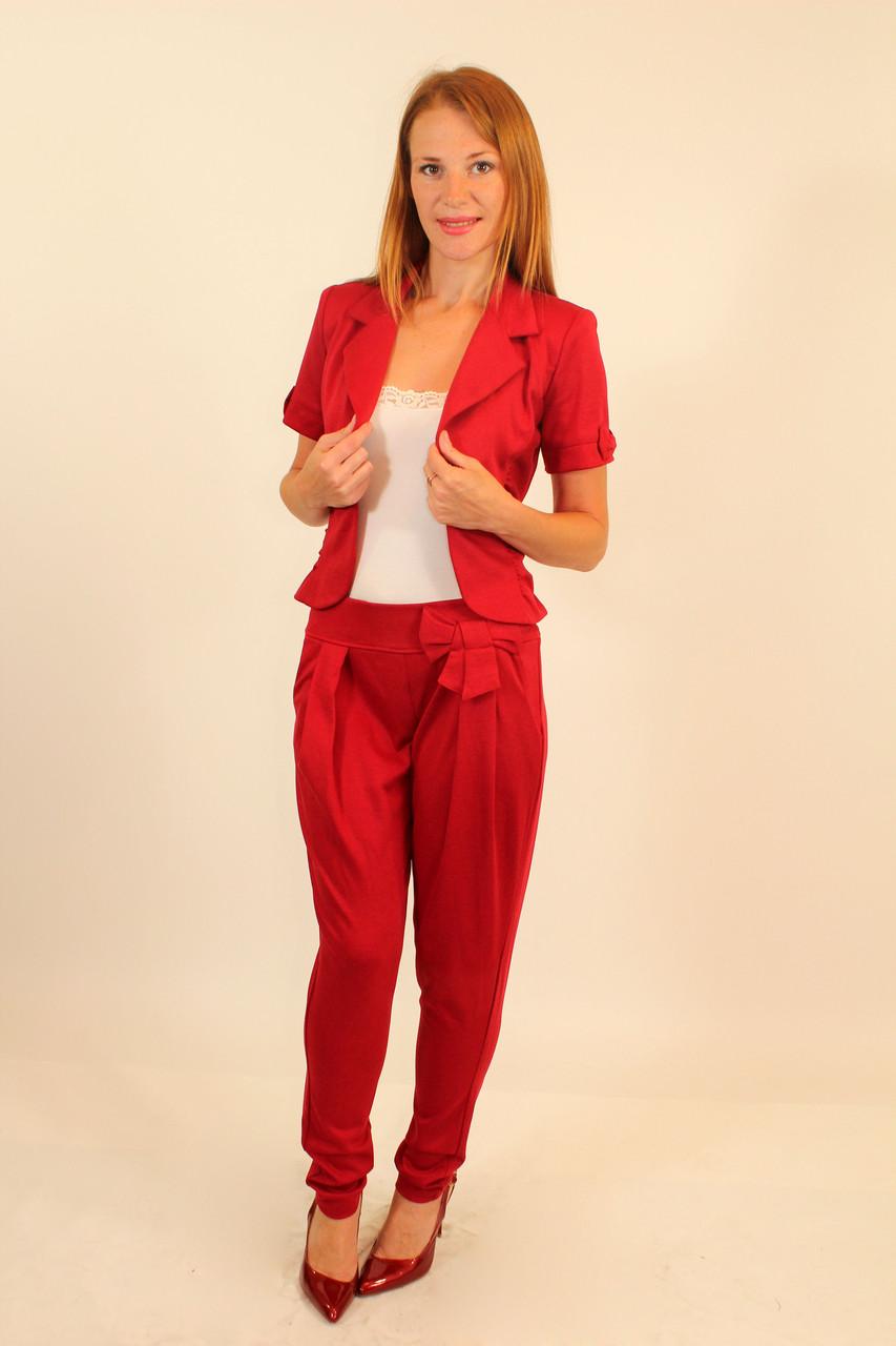 Брючный трикотажный костюм ( красный ) 42-48 р