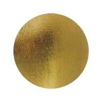 Подложка под торт круглая серебро/золото 360*360