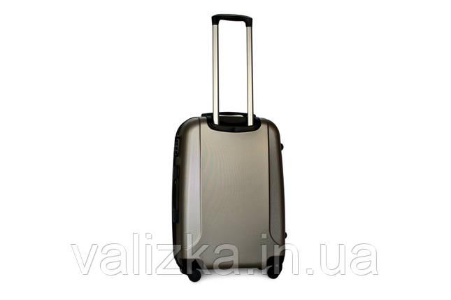 Чемодан дорожний из прочного пластика среднего размера на 4-х колесах Fly 310 цвета шампань., фото 2