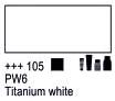 Краска акриловая AMSTERDAM, 20мл (105) Белила титановые, Royal Talens,  17041050,  8712079342753, фото 2