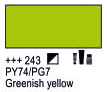 Краска акриловая AMSTERDAM, 20мл (243) Зелено-желтый, Royal Talens,  17042430,  8712079347673