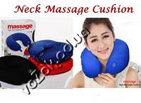 Антистрессовая подушка-подголовник массажная Neck Massage Cushion, фото 1