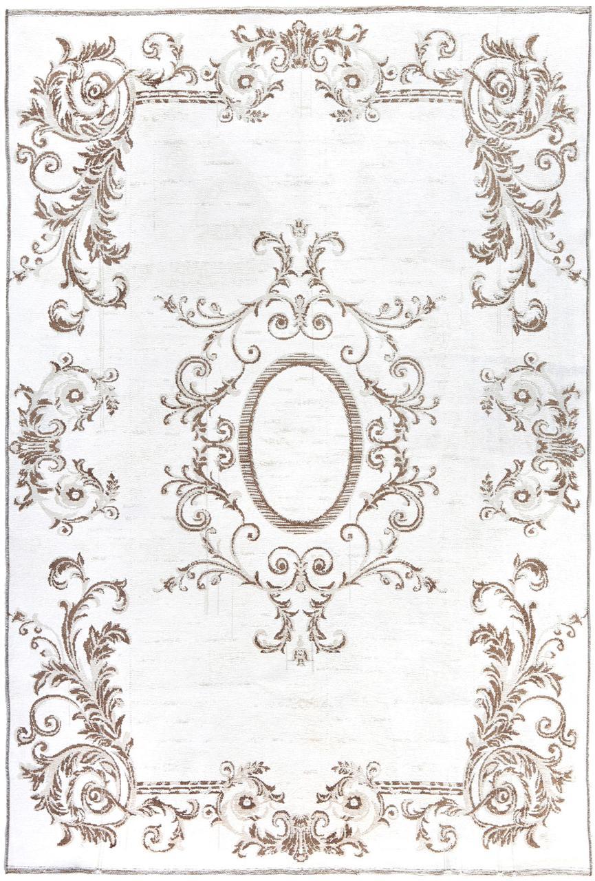Ковер My Home Moretti Side двусторонний белый с коричневым