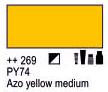 Краска акриловая AMSTERDAM, 20мл (269) AZO Желтый средний, Royal Talens,  17042690,  8712079342807, фото 2
