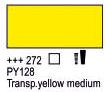 Краска акриловая AMSTERDAM, 20мл (272) Прозрачный желтый средний, Royal Talens,  17042720,  8712079347697