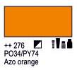 Краска акриловая AMSTERDAM, 20мл (276) AZO Оранжевый, Royal Talens,  17042760,  8712079347727, фото 2