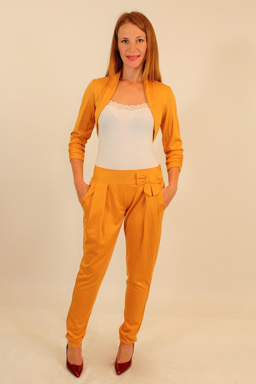 Трикотажный костюм болеро и брюки 42-48 р
