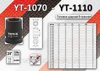 "Торцевая головка ударная 6-гранная 3/4"" x 55мм, YATO YT-1105"
