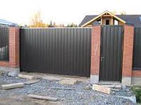 Ворота с калиткой из профлиста 4,6х2,0 м