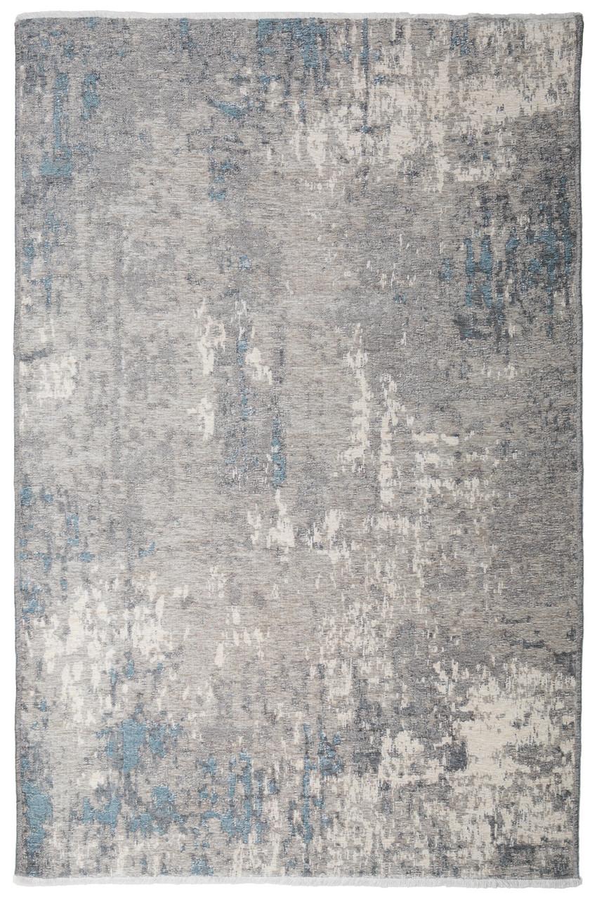 Ковер My Home Moretti Side двусторонний серый и голубой