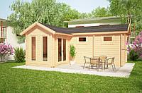Дом деревянный из профилированного бруса 5х6. Кредитование строительства деревянных домов
