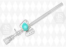 Канюля(катетер) внутривенная JS с клапаном (0,7 мм (24G) жовт., №1)