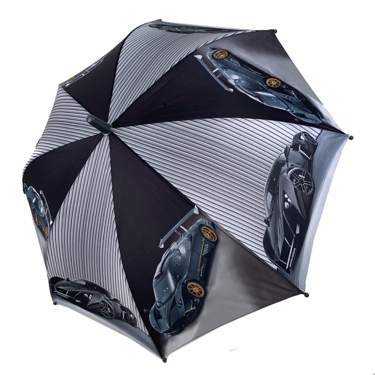 """Детский зонтик-трость """"Гонки"""" для мальчиков от SL, серая ручка, 18104-3"""