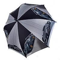 """Детский зонтик-трость """"Гонки"""" для мальчиков от SL, серая ручка, 18104-3, фото 1"""