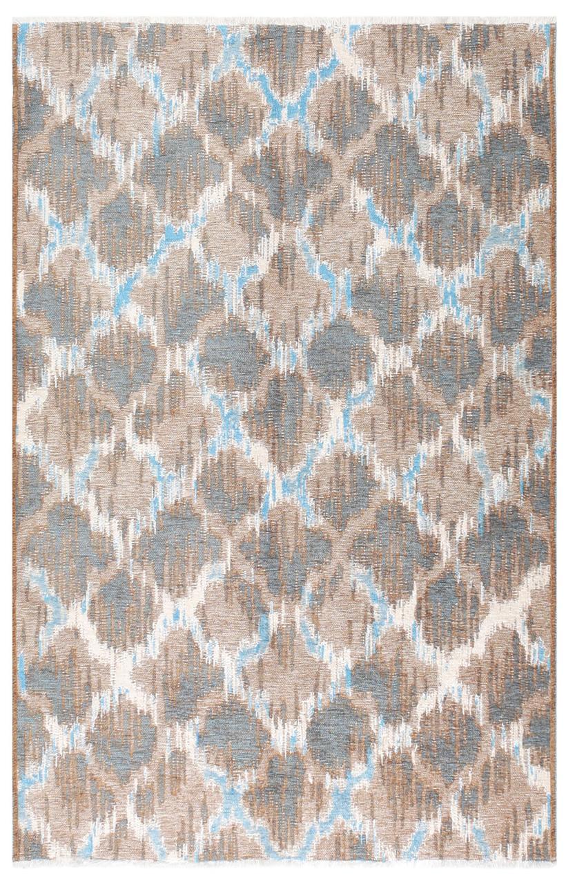Ковер My Home Moretti Side двусторонний голубой и коричневый