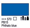 Краска акриловая AMSTERDAM, 20мл (570) Синий ФЦ, Royal Talens,  17045700,  8712079347895, фото 2