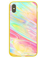 "TPU+Glass чехол Nillkin Ombre для Apple iPhone XS Max (6.5"") Желтый"