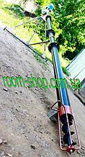 Шнековый погрузчик (транспортер, шнек) диаметром 110 мм, длинной 2 метра, фото 2