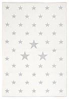 Ковер детский My Home Moretti Side двусторонний серый и белый Звезды, фото 1