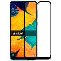 Защитное стекло Samsung A107 Galaxy A10s 2019 черное Full Glue 3D, на весь экран, полная поклейка