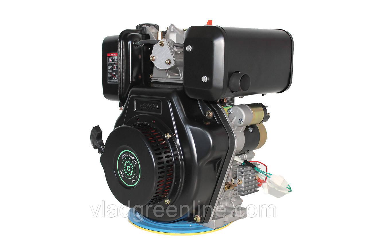 Двигатель дизельный GrunWelt GW186FВE (9,5 л.с., шлицы)