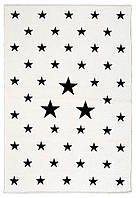 Ковер детский My Home Moretti Side двусторонний белый и черный Звезды, фото 1