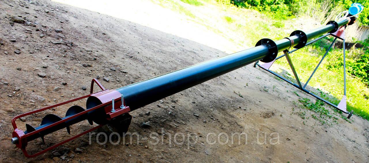Шнековый перегрузчик (погрузчик, транспортер) диаметром 110 мм, длиною 4 метра