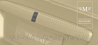 Emblem Mansory for rear trunk bar cover for Rolls-Royce Wraith
