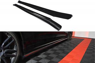 Диффузоры на пороги юбка накладки тюнинг Maserati Quattroporte 6