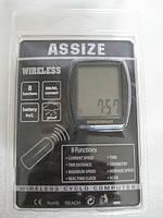 Велокомпьютер беспроводной, одометр ASSIZE AS4000 (8функций)