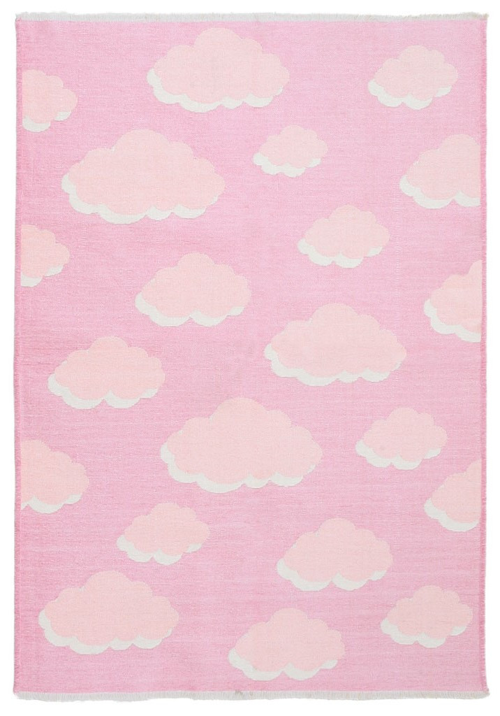 Ковер детский My Home Moretti Side двусторонний розовый Облака