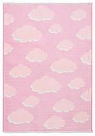 Ковер детский My Home Moretti Side двусторонний розовый Облака, фото 1