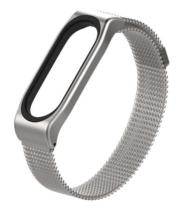 Ремінець MiJobs для Xiaomi Mi Band 3 Milanese SE Сріблястий (ARM54551)