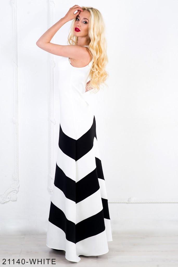 Двухцветное нарядное платье  с интересным геометрическим принтом Gemini