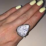 Агат кольцо капля дендритовый опал размер 17,7 кольцо с дендро-агатом в серебре Индия, фото 4