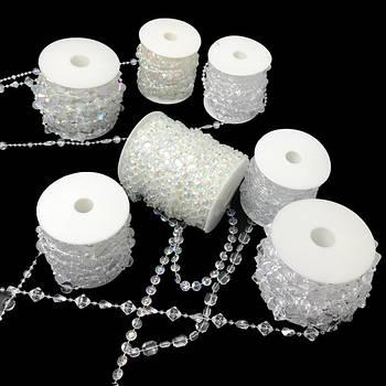 Акриловые кристаллы на нити