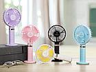 Портативный мини-вентилятор Handy Fan S8 Pink. Ручной вентилятор с аккумулятором S8 Розовый, фото 10
